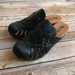 Korks by Kork-Ease Womens Size 7 Black Mule Sandal